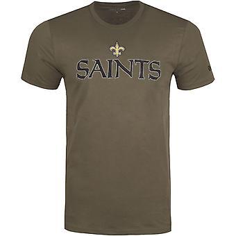 Nova era STACK LOGO shirt-NFL New Orleans Saints Olive