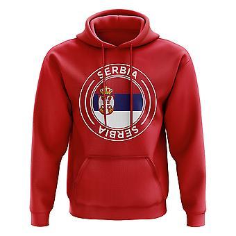 Serbia fotball Badge hettegenser (Red)