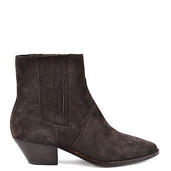الرماد الأحذية المستقبل براون سويدي الكاحل التمهيد