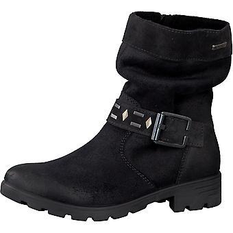 Ricosta Girls Rena Waterproof Boots Black Asphalt