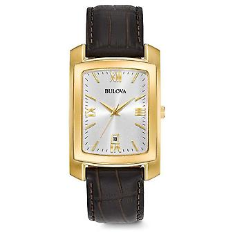 Bulova Mens Dress Brown Leather Watch Strap 97B162