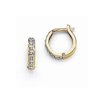 14k White Gold Post Earrings Diamond Fascination Round Hinged Earrings Jewelry Gifts for Women