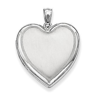 925 sterling sølv hjerte Locket-5,5 gram