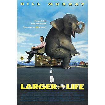 أكبر من الحياة (1996) ملصق السينما الأصلي