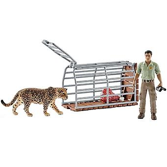 Schleich, forester with trap