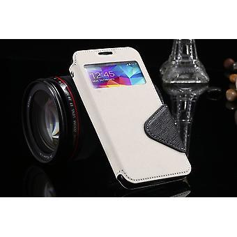 Samsung Galaxy S4 lompakko S-View kotelo valkoinen