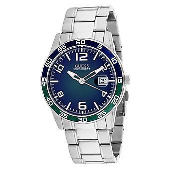 Guess Men's Recruit Green / Blue Dial Watch - W1172G2