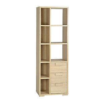 Cambourne 3 Drawer Display Unit Light Sonoma Oak