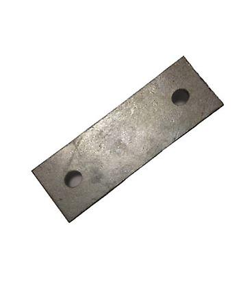 Backing Plate For M10 U-strap 80 Mm Centers 50 X 3 Mm Galvanised Mild Steel