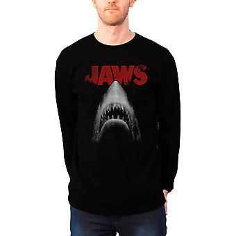 Official Mens Jaws Sweatshirt Classic Movie Poster Logo new Black