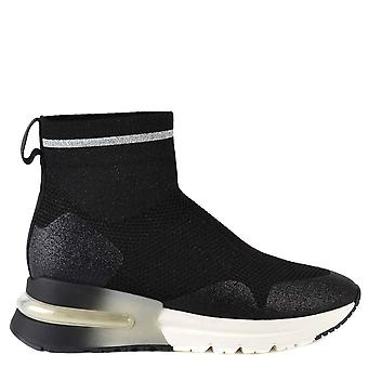 Ash KYLE GLITTER Trainers Black Knit
