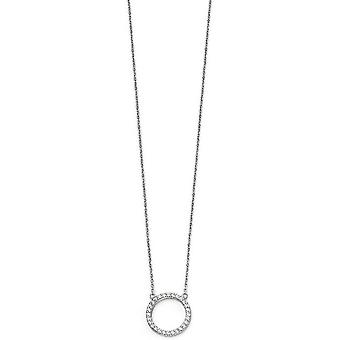 Beginnings Open Disc Pave Necklace - Silver
