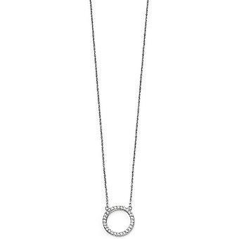 Anfängen Open Disc ebnen Halskette - Silber