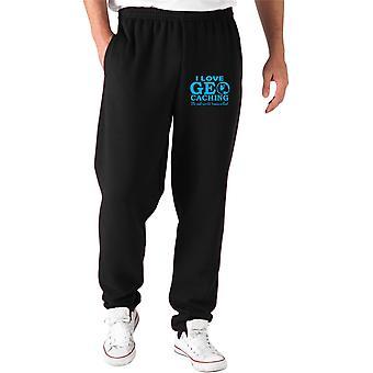 Pantaloni tuta nero gen0135 geo caching dark back