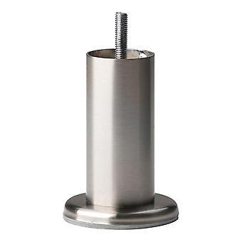 Yuvarlak paslanmaz çelik mobilya bacak 10 cm (M8) (1 adet)