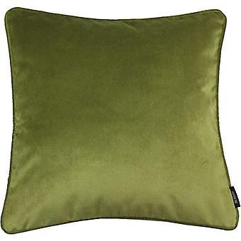 Mcalister Textilien matt limegrün Samt kissen