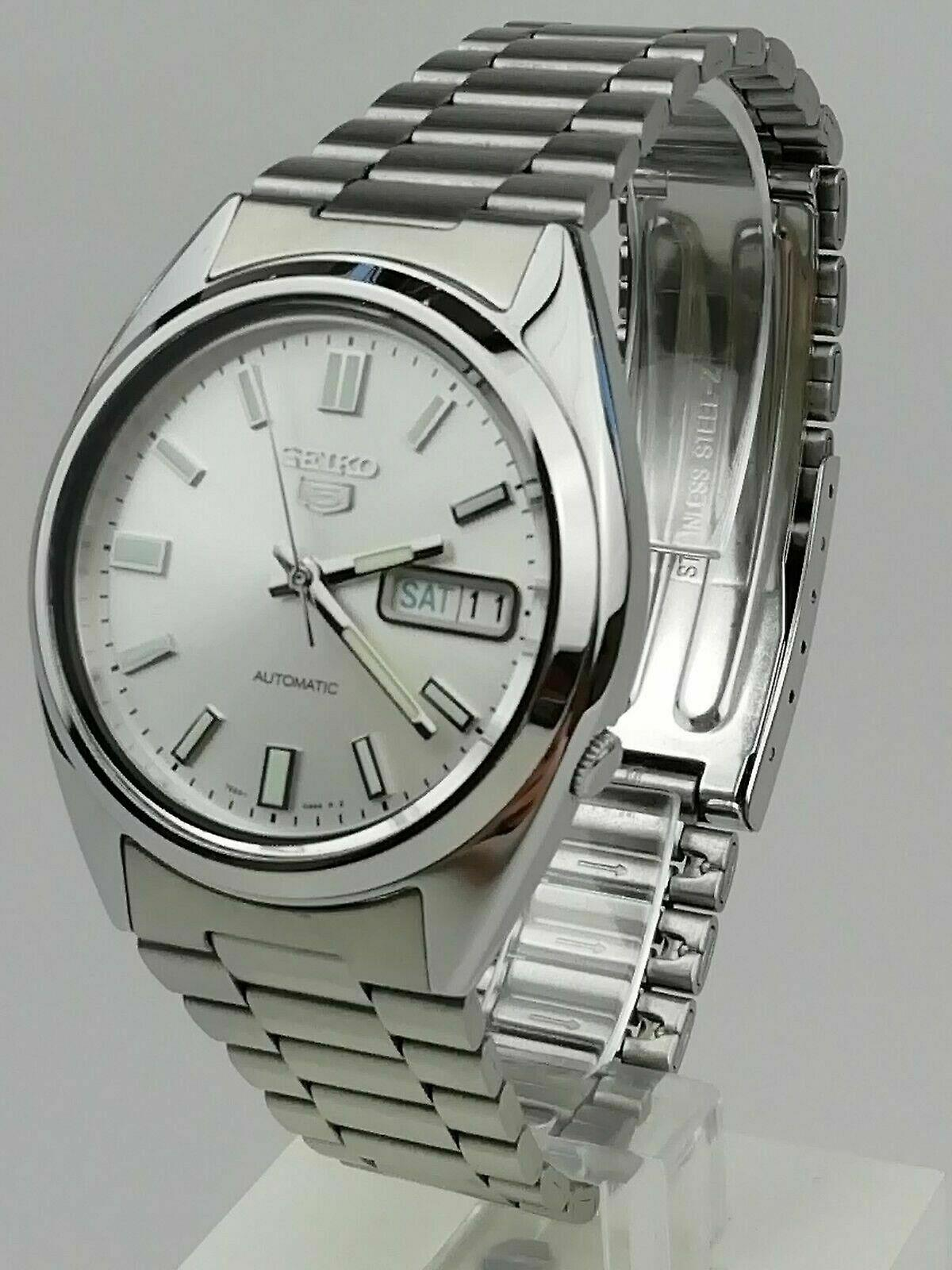 Seiko 5 Automatic Silver Dial Silver Stainless Steel Men's Watch SNXS73K1 RRP £169