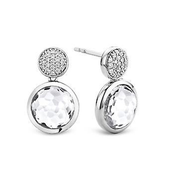 Øreringe Ti Sento 7778ZI - øreringe sølv-oxid og e Pav