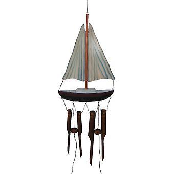 Carillon de vent de bambou de bateau à voile
