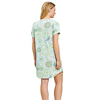 Rösch 1203032-15650 Femei's Smart Casual Green Mandala Flowers Nightdress