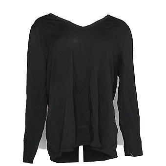 Inc vrouwen ' s plus trui vrsty SPLT mouw zwart
