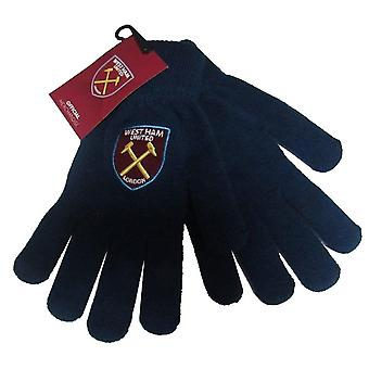 West Ham United FC Unisex Adults Core Knitted Gloves