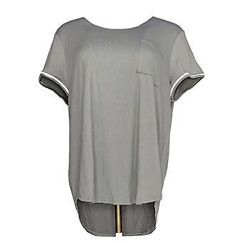 Cuddl Duds Kvinner & apos;s Sleepshirt Cool & Airy Jersey Grå A346857