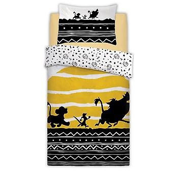 Lion King Tribal Sunrise Single Duvet Set