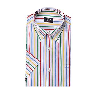 Paul & Shark Paul And Shark Short Sleeved Shirt Multi Stripe