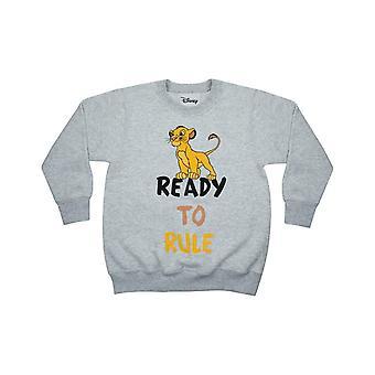 Disney Lion King Simba Ready to Rule Boy's Grey Long Sleeve Sweatshirt