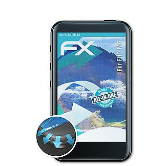 atFoliX 3x Protective Film compatible with FiiO M6 Screen Protector clear&flexible