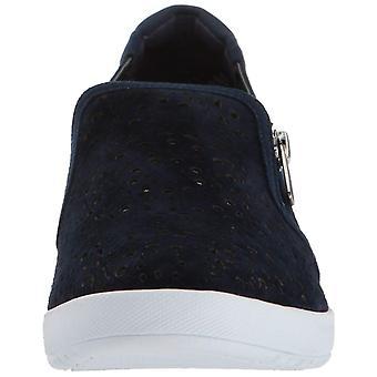Anne Klein Womens Yvette Leather Low Top Zipper Fashion Sneakers
