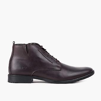 Ernie brown leather derby boot