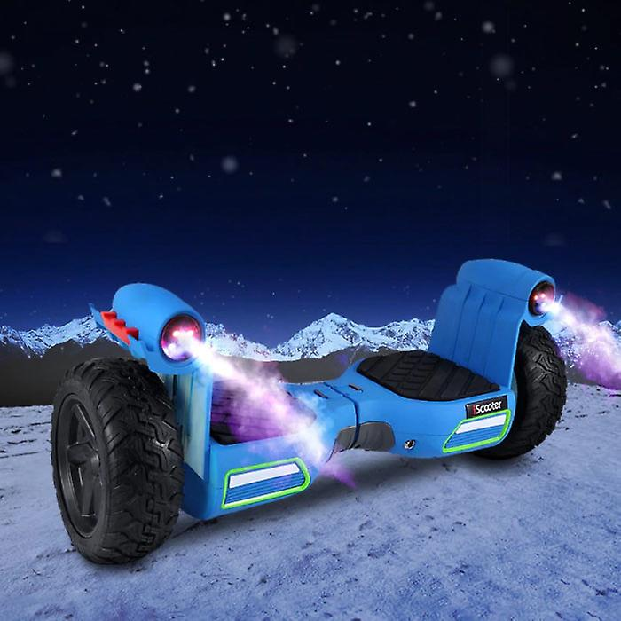iScooter Electric Monster Mist Spray Hoverboard Smart Scooter Blue - 8