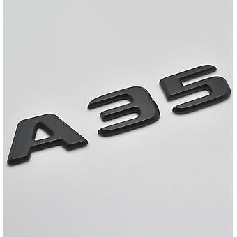 Matt Musta A35 Flat Mercedes Benz AutoMalli Takasaappaan numero Tarra Tarramerkki Tunnus Luokka W176 W177 AMG