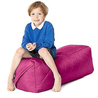 Fun!ture gesteppte Kinder rechteckige Bean Bag Sitz | Outdoor Indoor Wohnzimmer Kinder Sitzsack Sitzgelegenheiten | Wasserdicht | Lebendige Play Kinder Farbe | Hohe Qualität & bequem (Cerise)