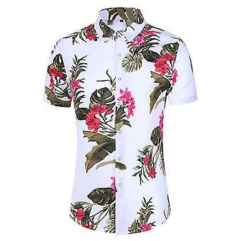 Allthemen Men's Hawaiian T-shirts Casual Printed Short Sleeve Shirts