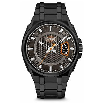 Harley Davidson Mens For Him | Black Dial | Black Stainless Steel Bracelet 78B151 Watch