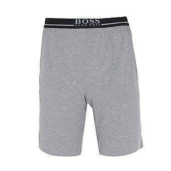 BOSS Mix & Match Logo Bund grau Marl Lounge Shorts