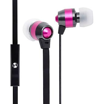 Groov-e Smart Buds Metal Earphones with Remote Mic - Pink