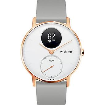 Withings Activity Tracker STEEL HR ROSE GOLD HWA03b-36white-RG -S.Grey-All-Inter