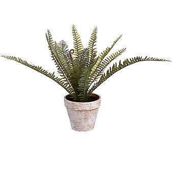 Hill Interiors Artifical Terracotta Potted Fern