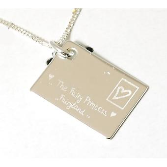 Juicy Lucy Kids Envelope Pendant on 16 Inch Chain