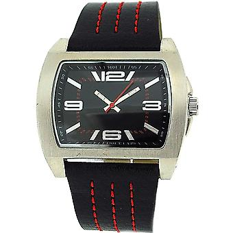 Spirit Gents Analogue Black - Red Strap Casual Watch ASPG08