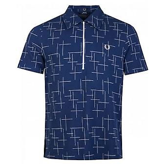 Fred Perry Re-issues Crosshatch Half Zip Polo