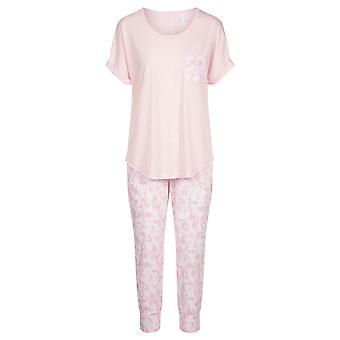 Rösch 1203053-11574 Women's Smart Casual Pink Camouflage Floral Pyjama Set
