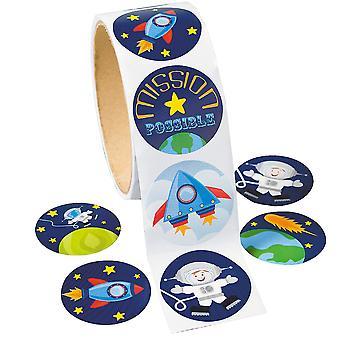 Rulle av 100 Yttre rymden Klistermärken för Barn Hantverk