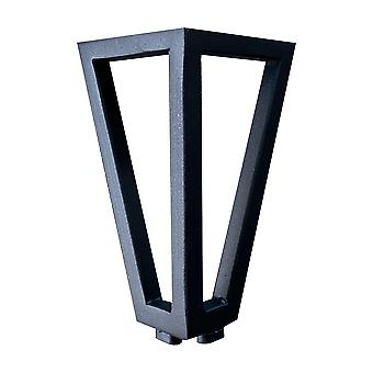 Black wire leg triangle 13 cm with fastening plate