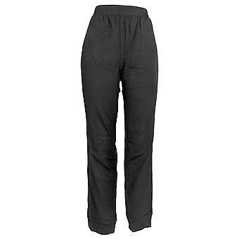 Denim & Co. Women's Active Pull-On Knit Jogger Pants Black A300833