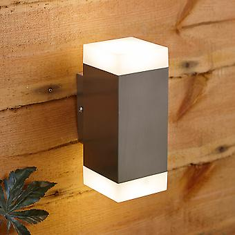 Biard Up Down LED Wall Light - Modern Stainless Steel IP44 Outdoor Garden Porch